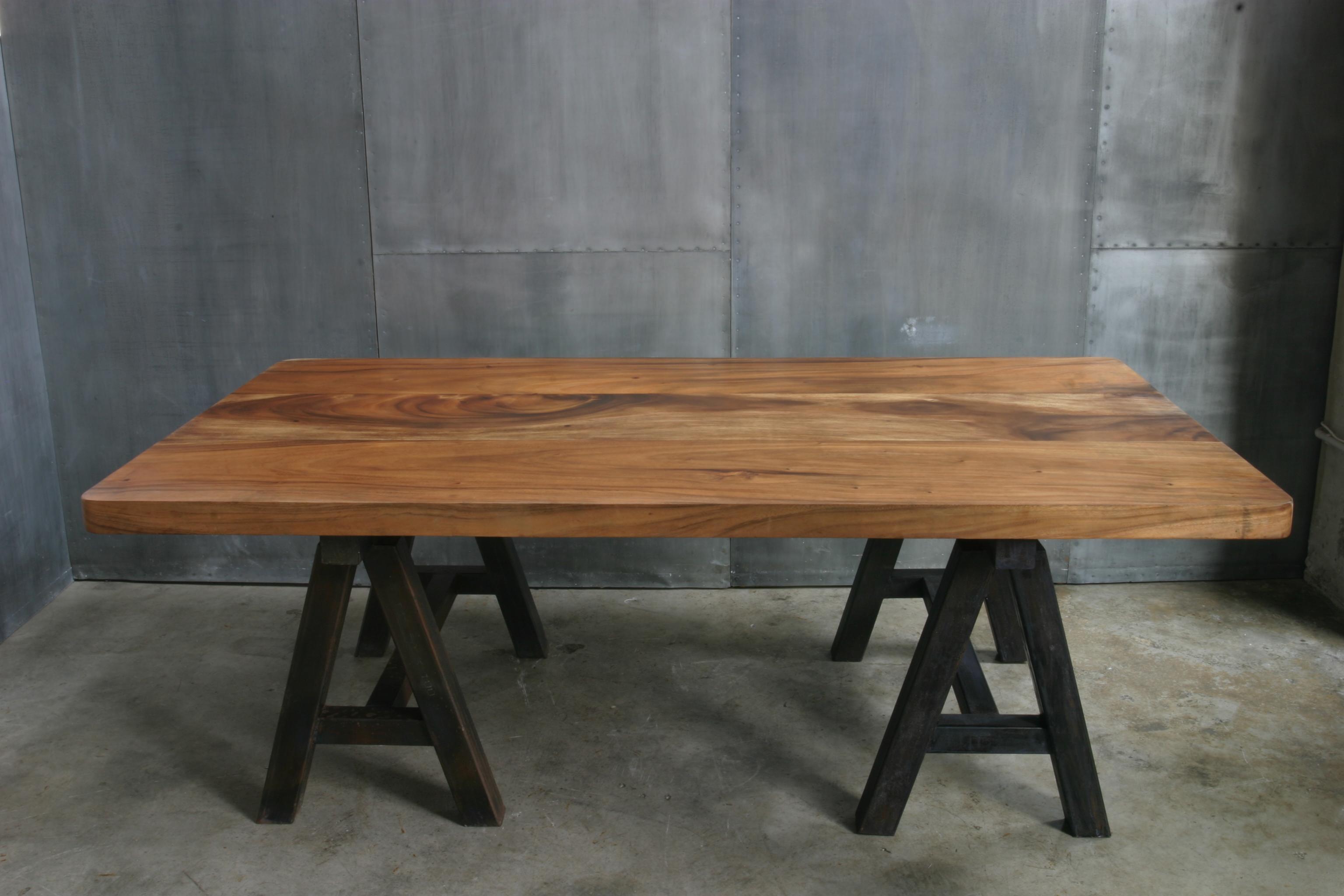 Ag64 mesa caballetes hierro madera hierro cat logo - Caballetes para mesas ...