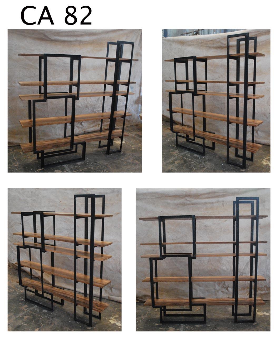 Ca82 estanteria madera hierro cat logo concha bay - Estanterias de hierro ...