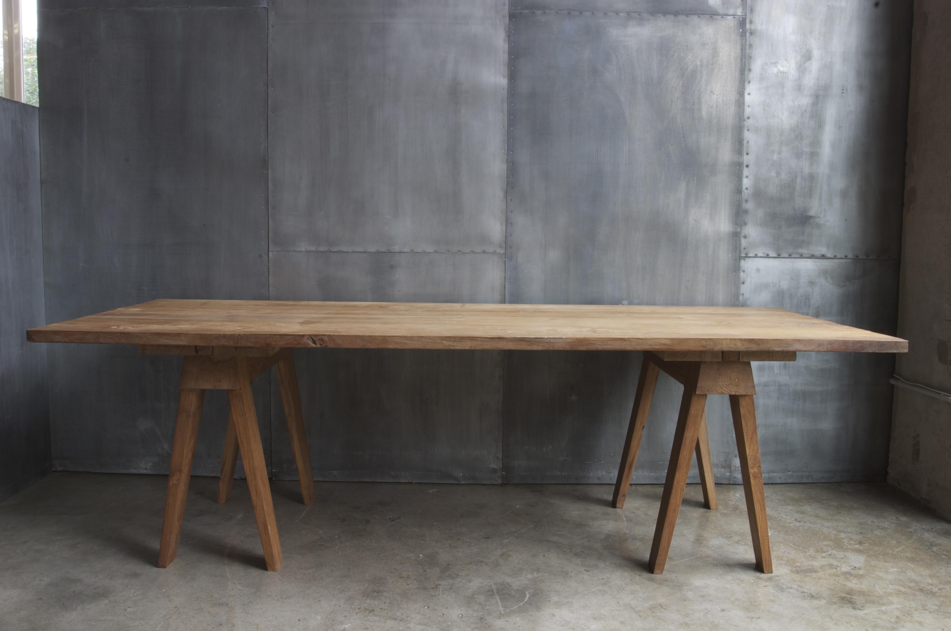 Ag41 mesa caballetes madera hierro cat logo - Caballetes para mesas ...